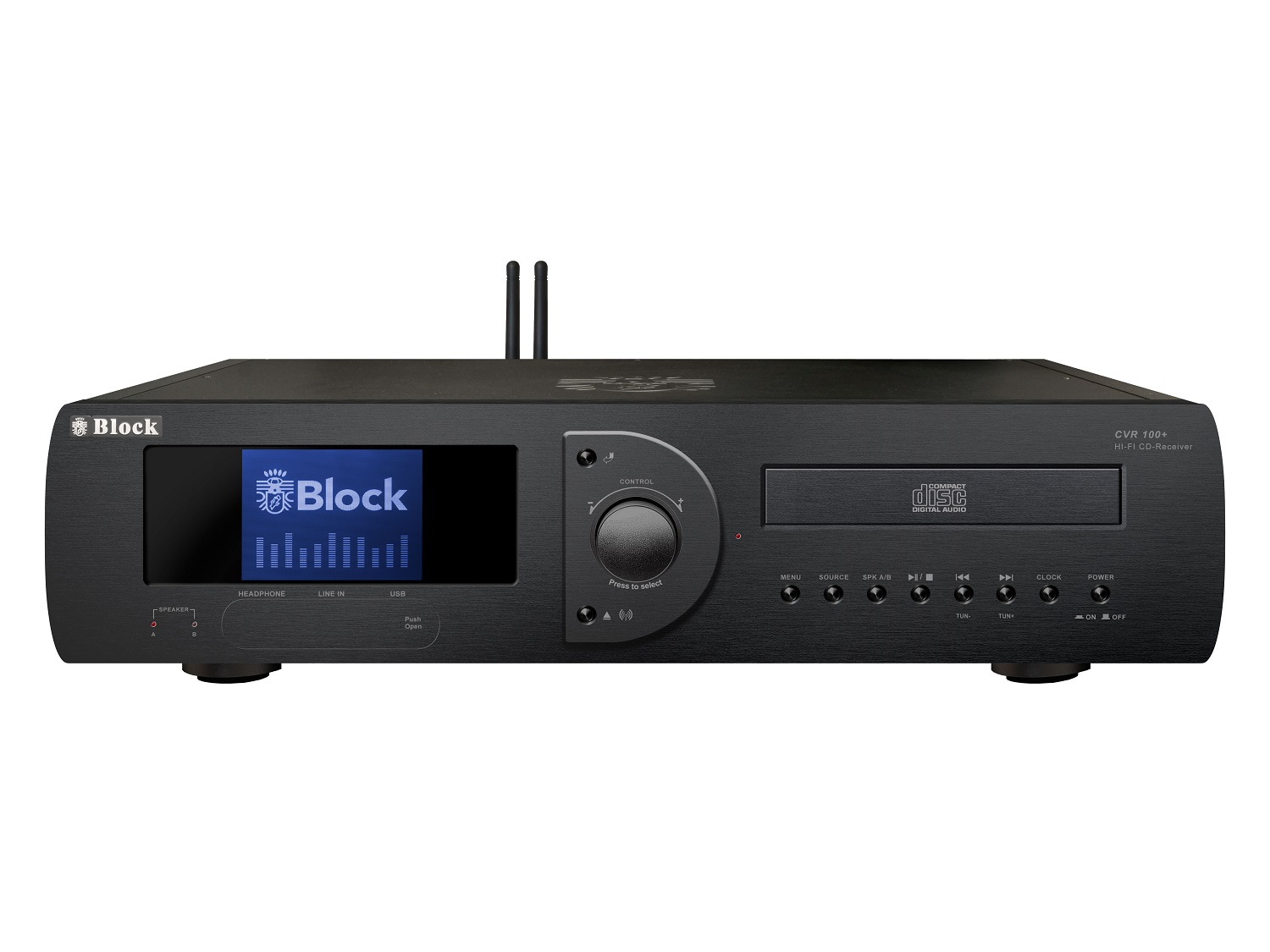 Block CVR-100+ MKII CD-Internet-Receiver/Streamer mit Bluetooth und W-LAN schwarz