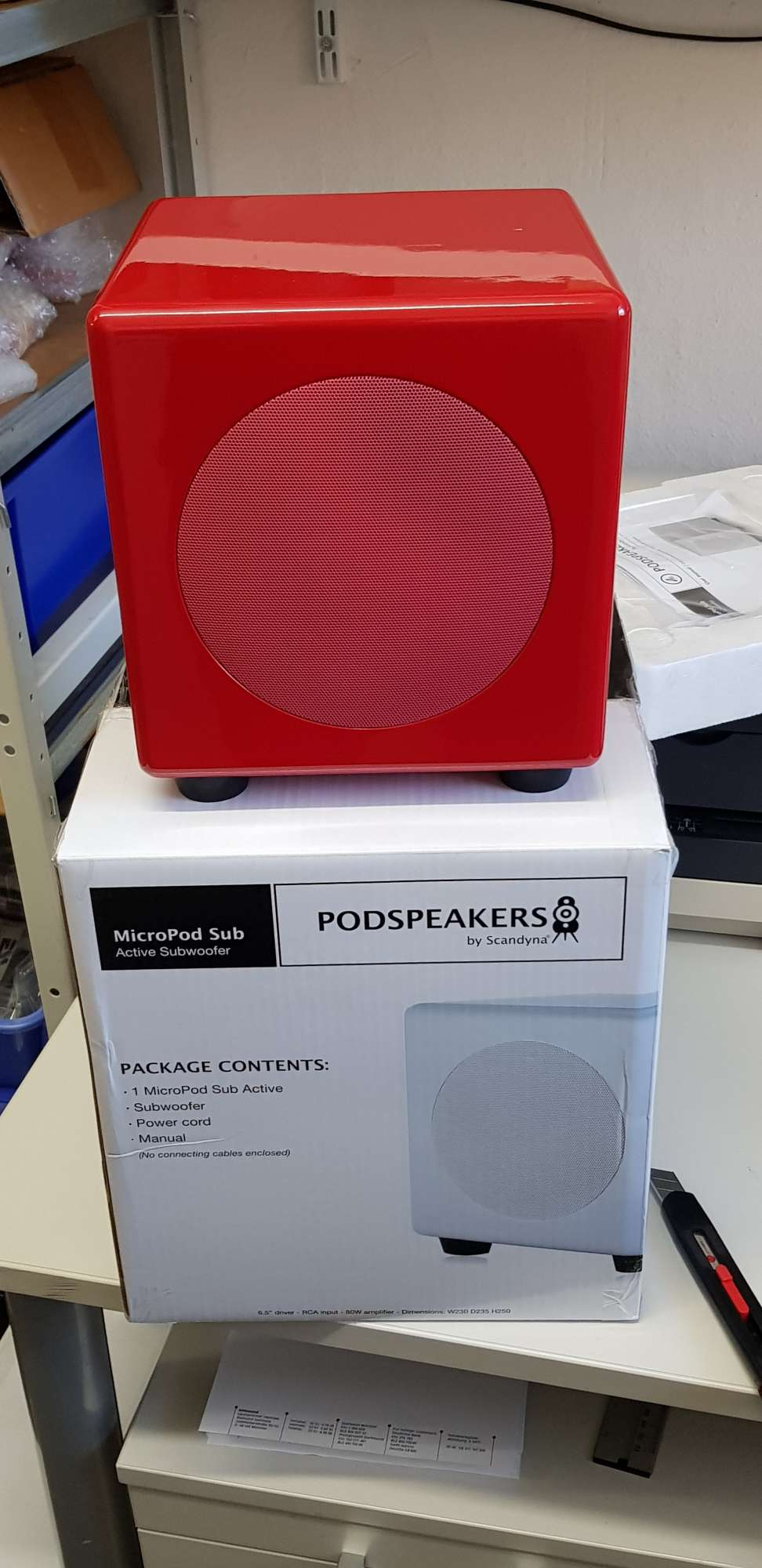 Scandyna Podspeakers Micropod Subwoofer (Demo, little failure in laquer)