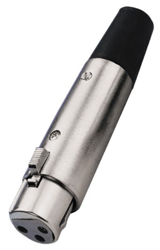 Monacor XLR-Stecker Female 507/J, Silber