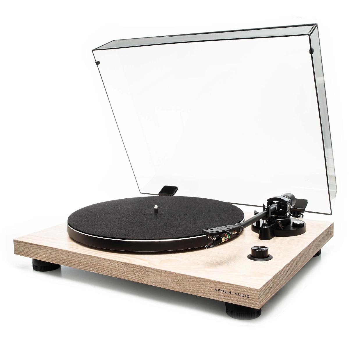 Argon Audio TT 3 Plattenspieler mit Ortofon OM5E Tonabnehmer Eiche