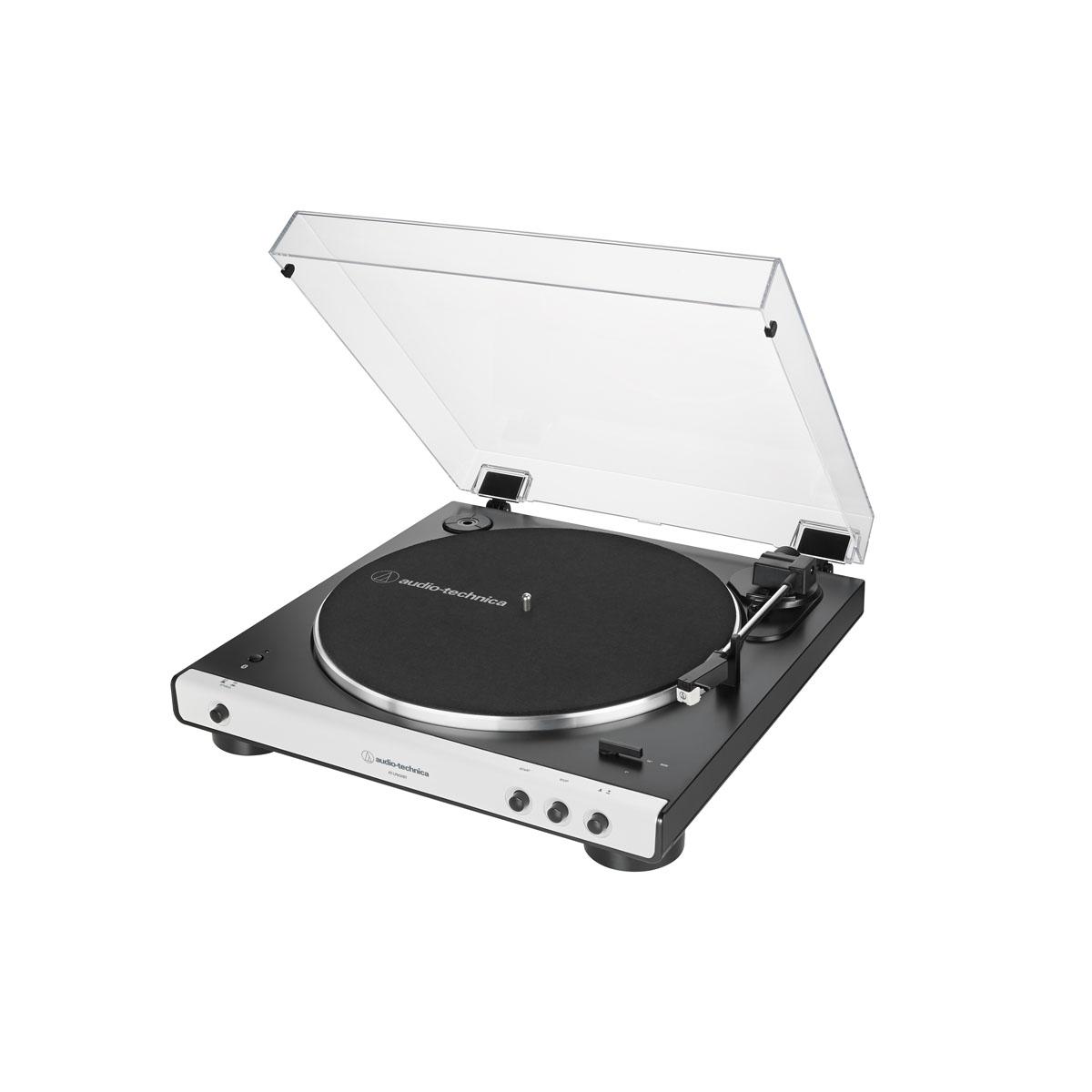 Audio Technica AT LP60XBT Bluetooth Plattenspieler schwarz/weiss