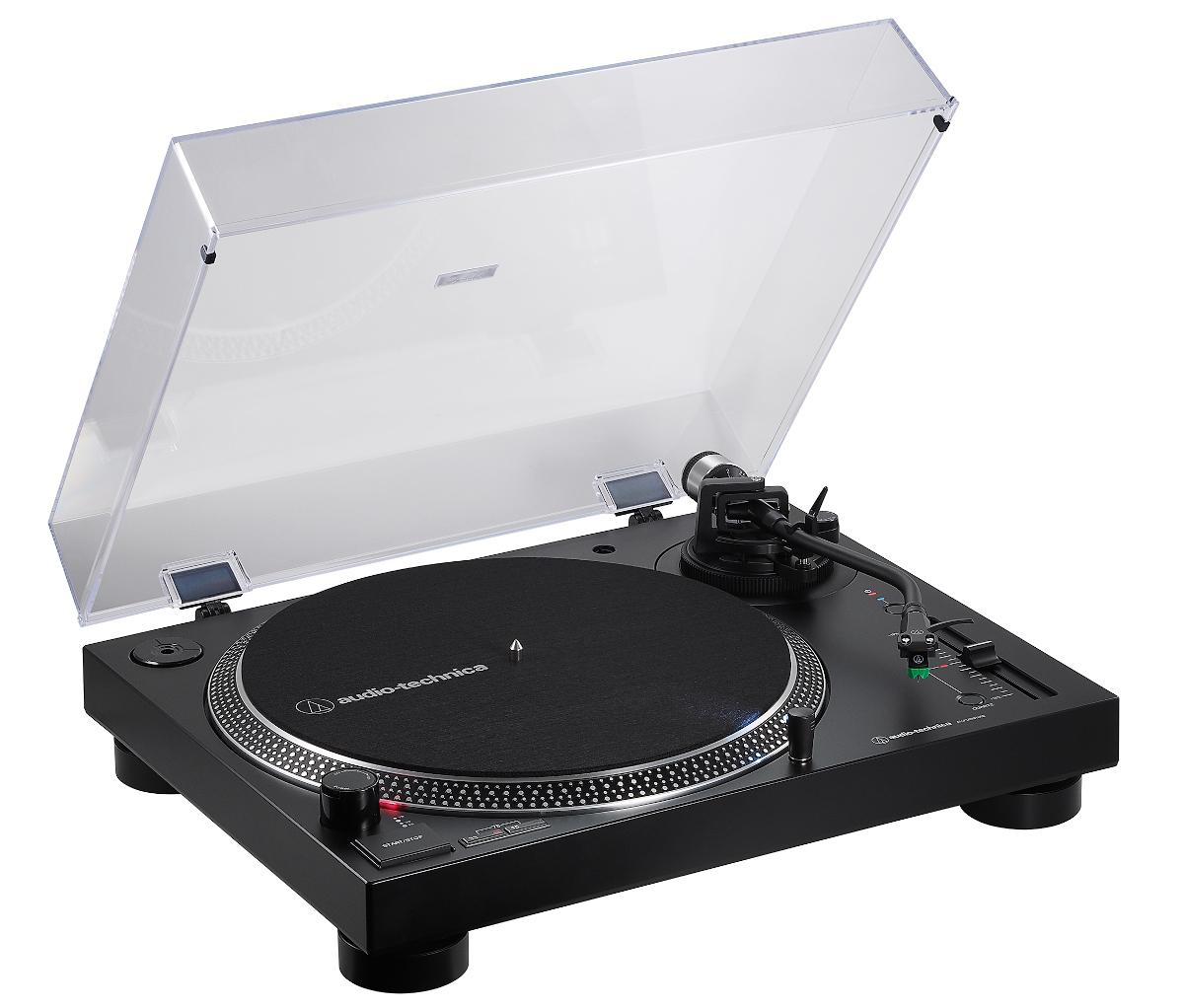 Audio Technica AT LP120XBT USB Plattenspieler mit BT und Phono Vorstufe, schwarz