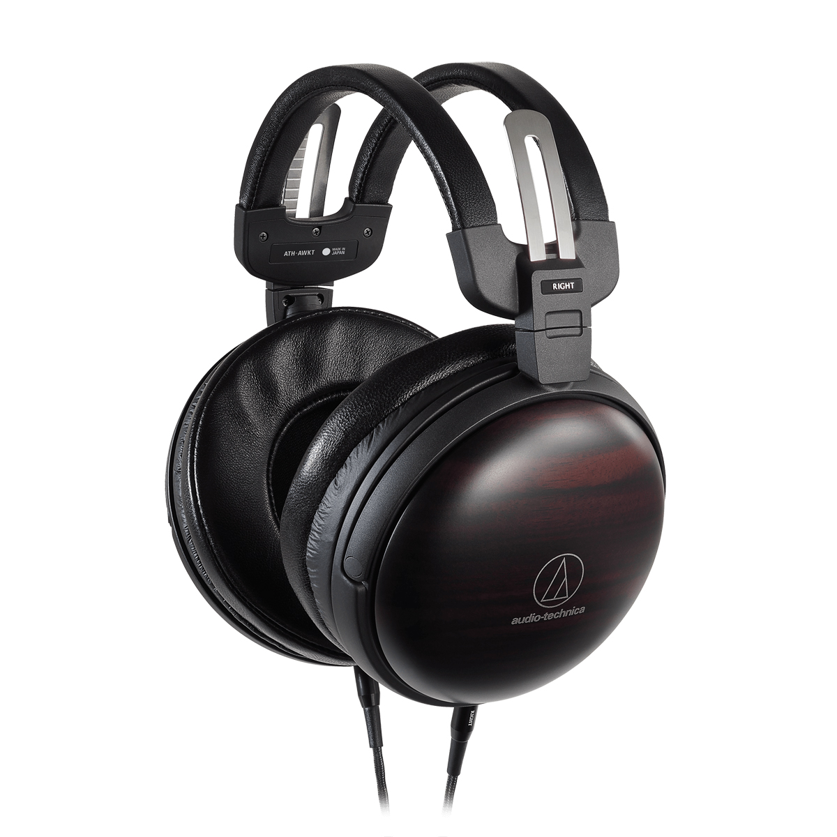 Audio Technica ATH AWKT Audiophile Closed-back Dynamic Wooden Headphones