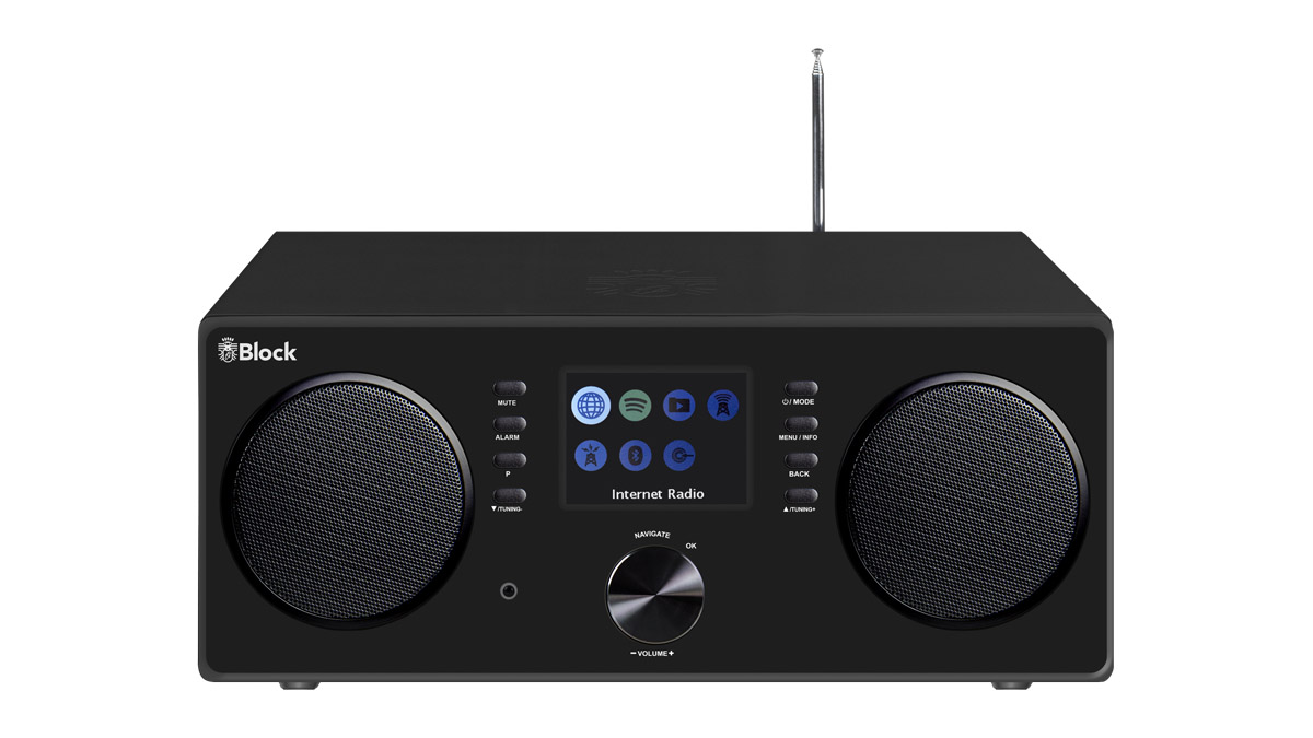 Block CR-20 Connected Radio mit Bluetooth + W-LAN, USB und FB schwarz