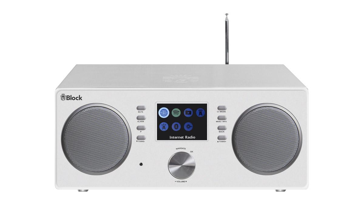 Block CR-20 Connected Radio mit Bluetooth + W-LAN, USB und FB weiss