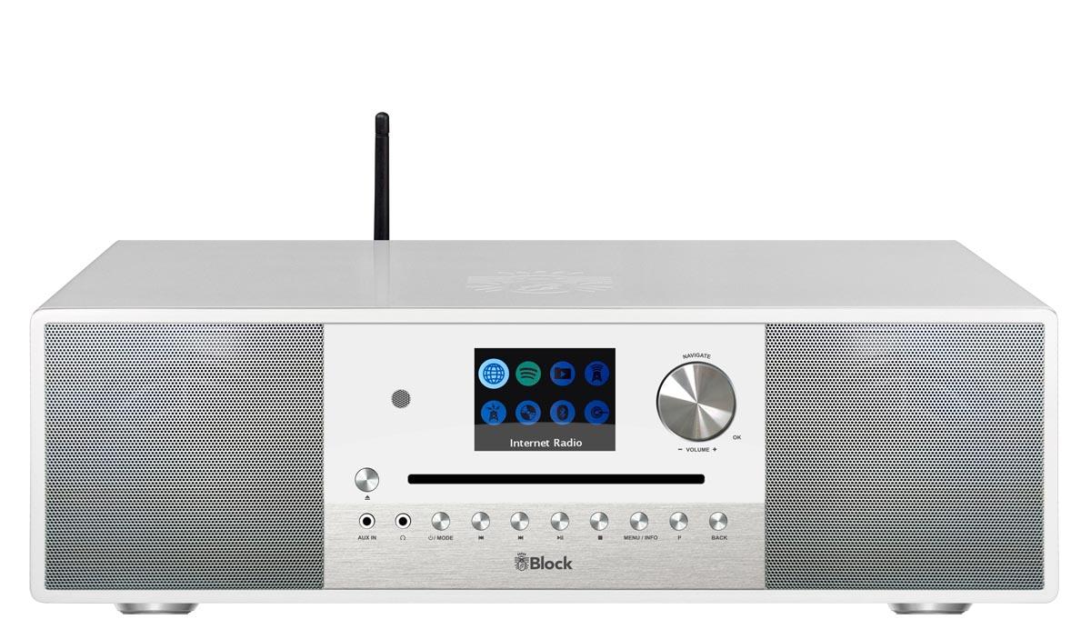 Block SR-100 Smart-Radio mit DAB+, weiss