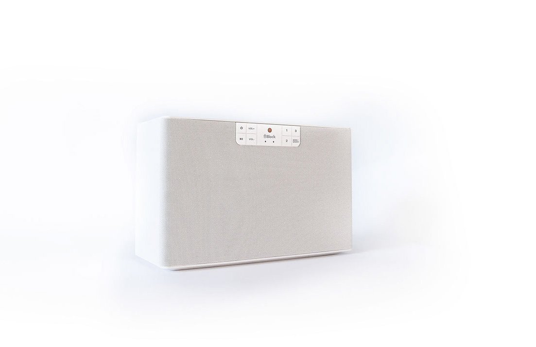 Block C Netzwerklautsprecher mit Bluetooth, DLNA, Internet-Radio und Spotify Connect-Ready