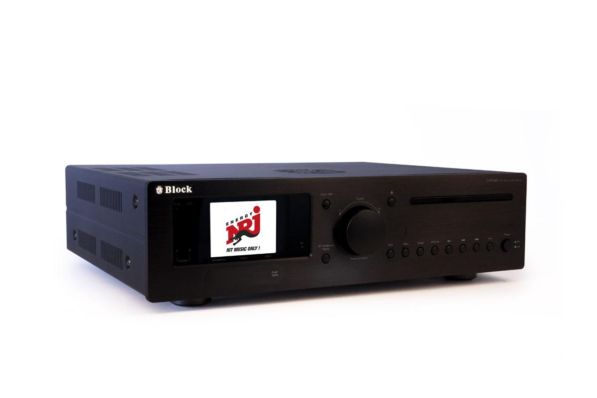 Block CVR-200 Blu-Ray-Internet-Receiver mit Bluetooth und W-LAN schwarz