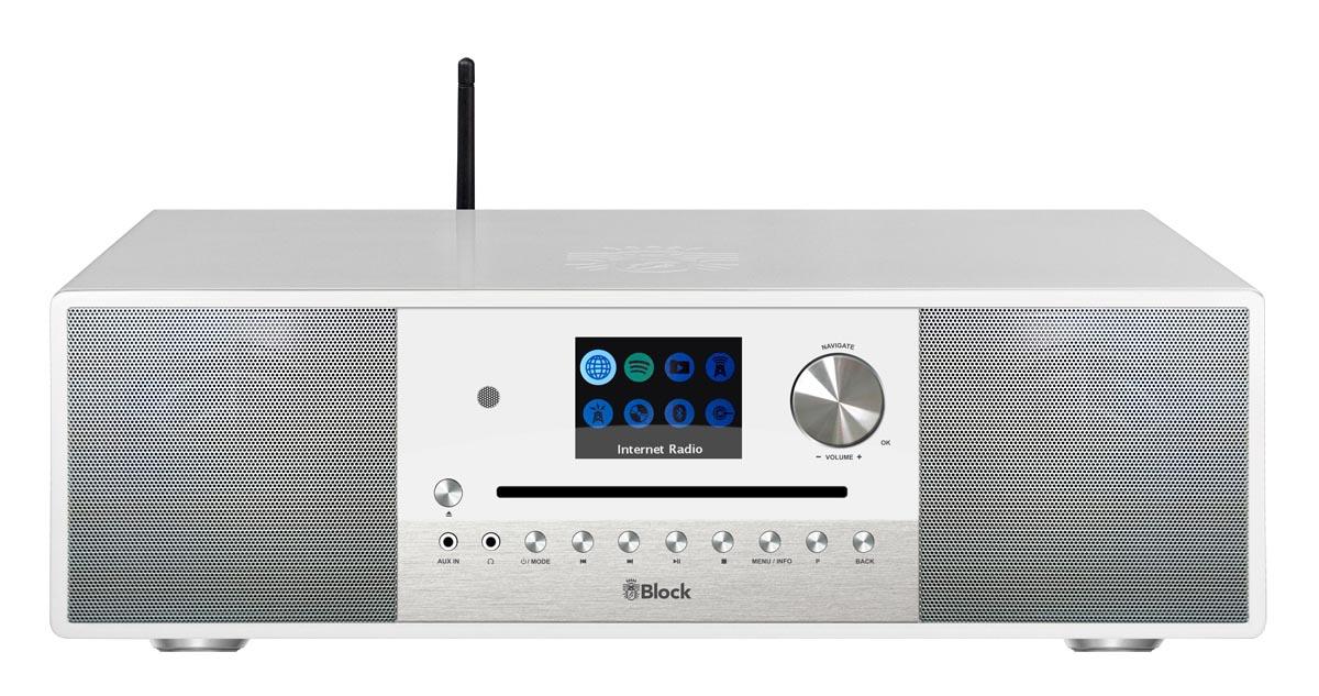 Block SR-200 Smart-Radio mit DAB+ und integrierten Subwoofer