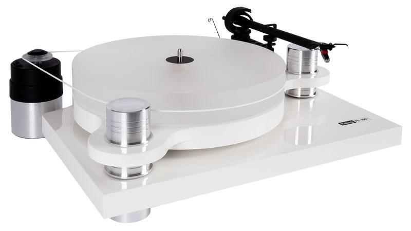 Block PS-100+ Plattenspieler mit Audio Technica VM740ML Tonabnehmer, weiss (Demo Modell)