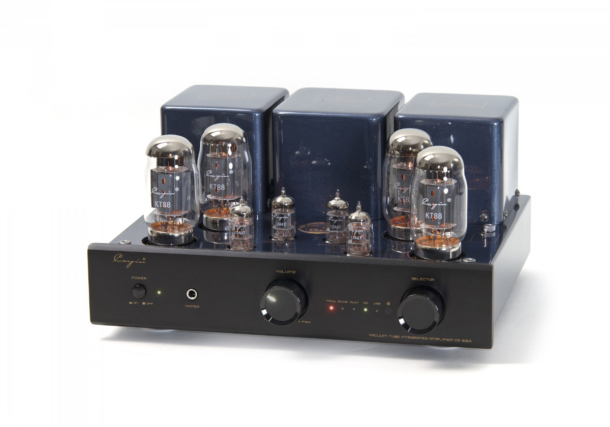 Cayin CS-55A tube integrated amplifier KT 88 aluminium front black