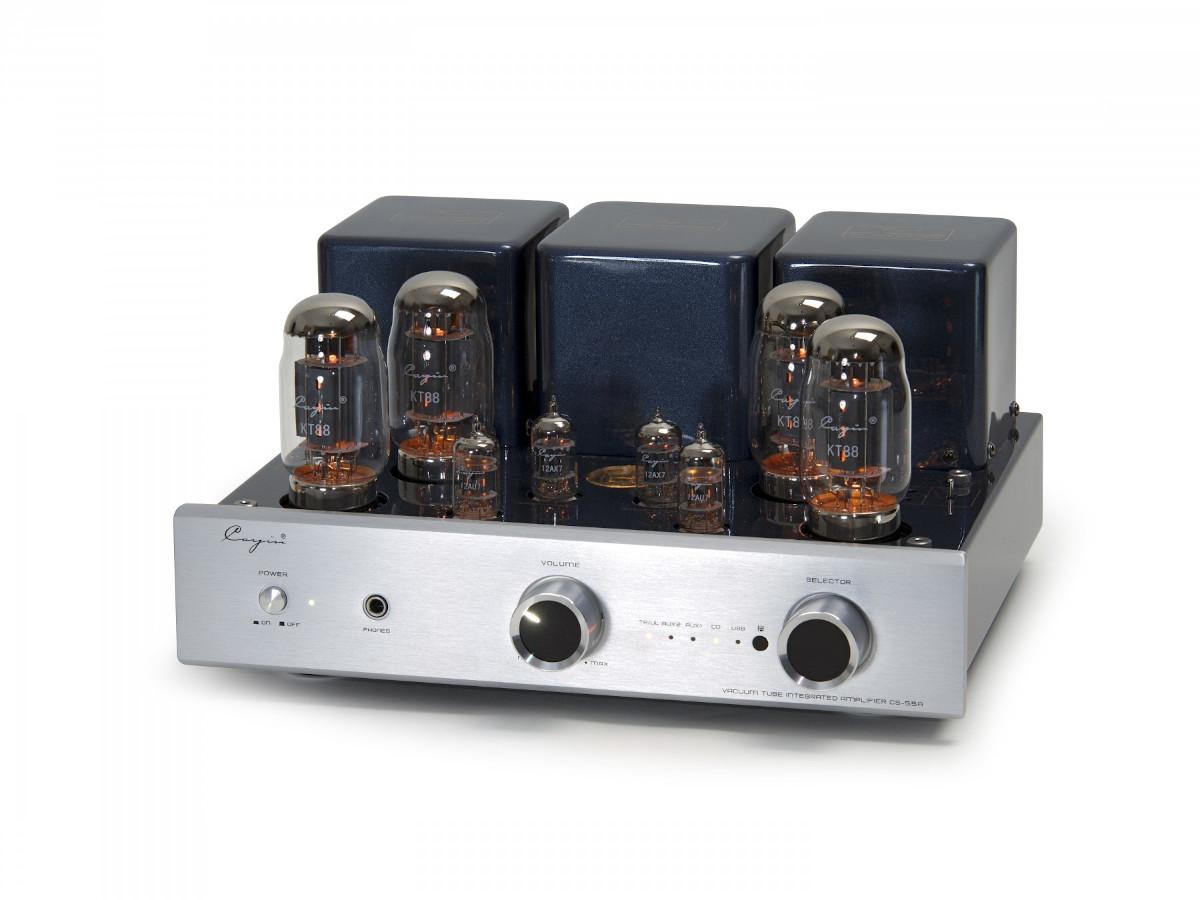 Cayin CS-55A tube integrated amplifier KT 88 aluminium front silver