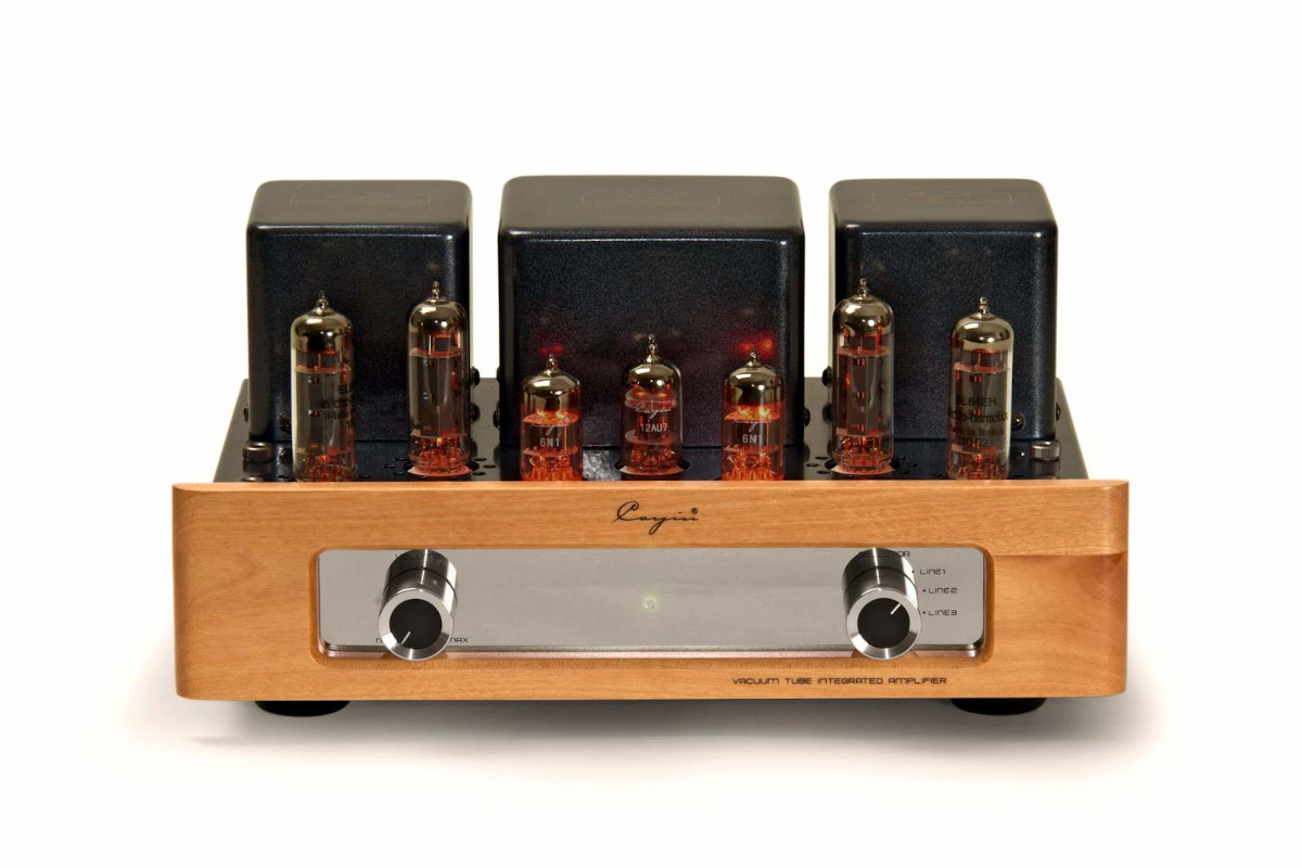 Cayin MT-12L tube integrated amplifier with wooden front