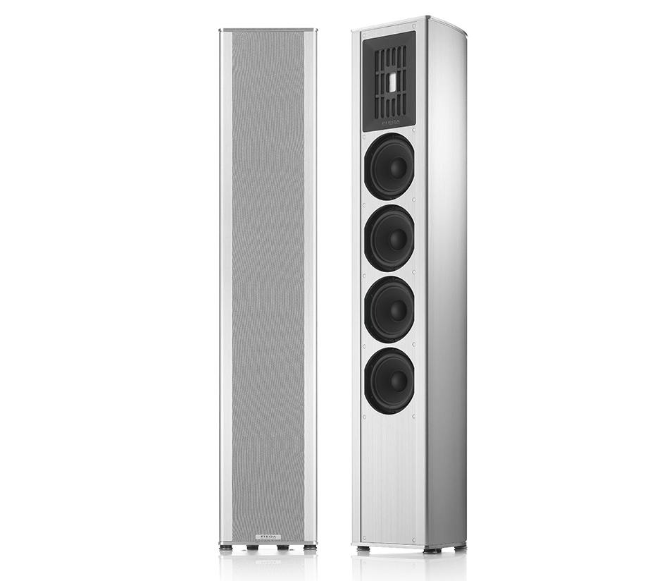 Piega Coax 511 3-way system floor standing loudspeaker High End Alu/silver