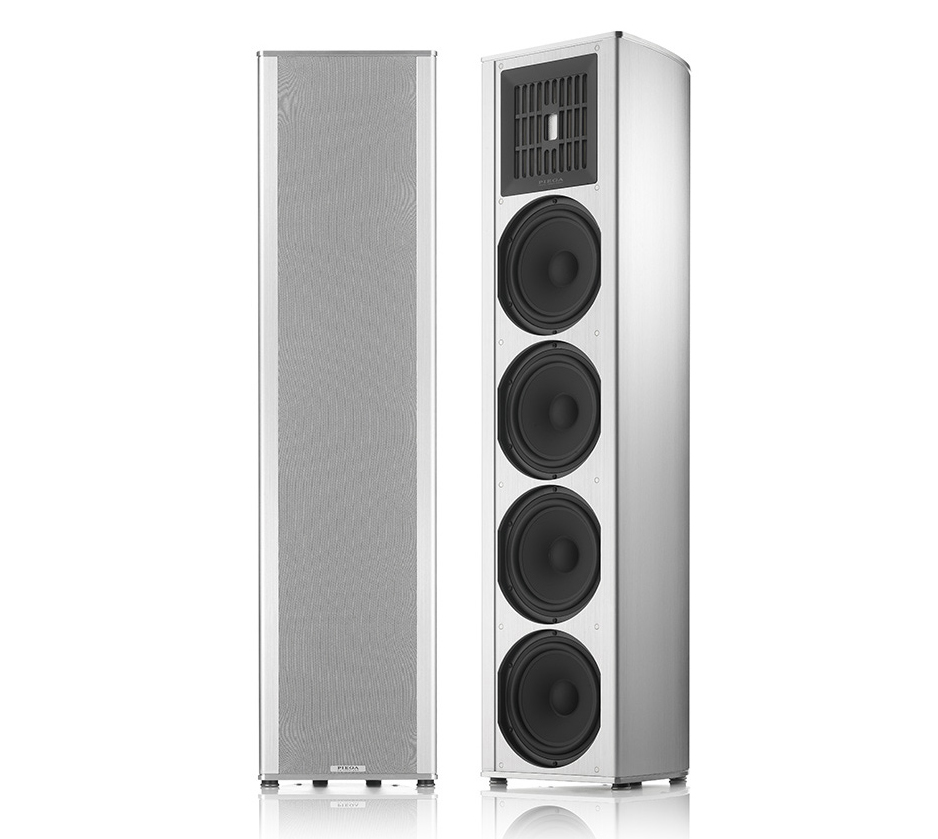 Piega Coax 711 3-way system floor standing loudspeaker High End Alu white coated