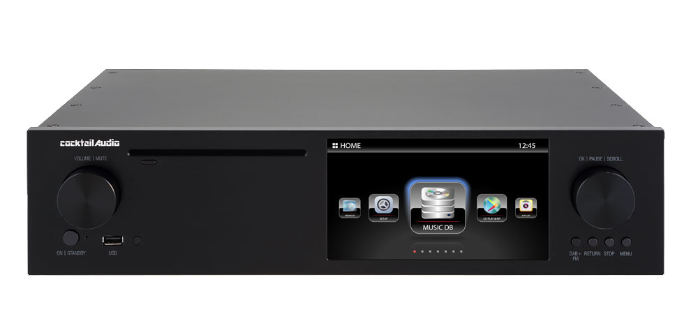 Cocktail Audio X50D High-End Musikserver schwarz ohne HDD