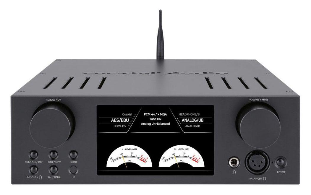 Cocktail Audio HD500H Röhren-Kopfhörer-Verstärker mit USB DAC schwarz