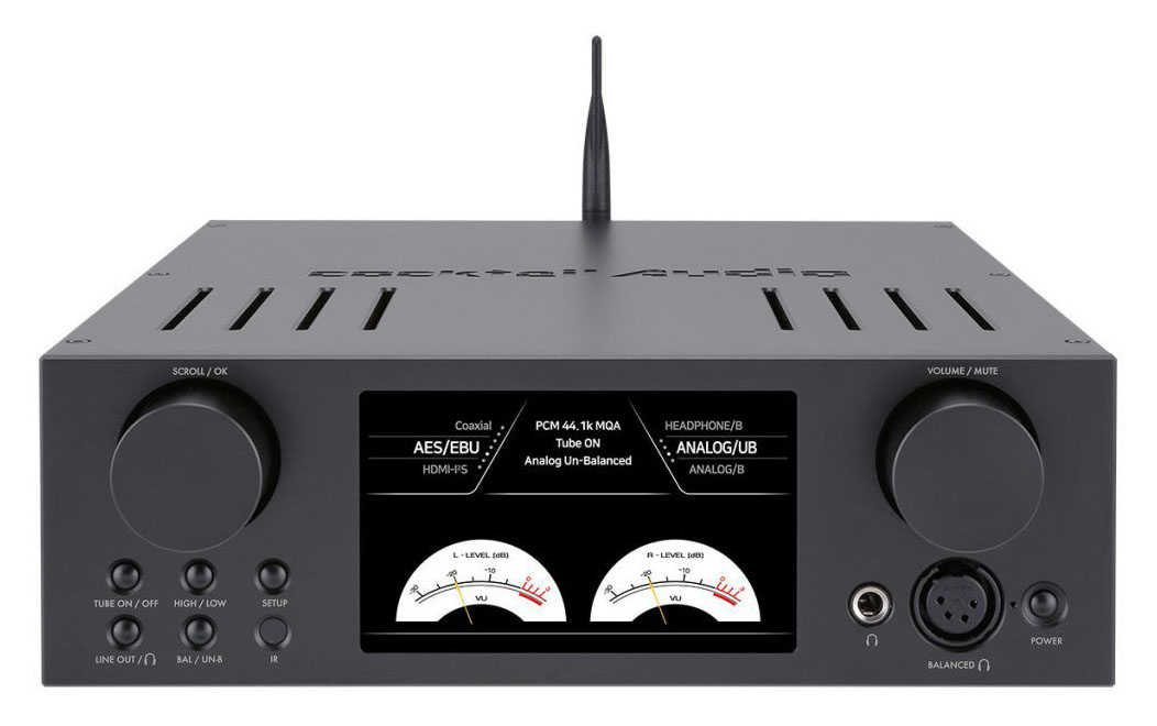 Cocktail Audio HA500H Röhren-Kopfhörer-Verstärker mit USB DAC