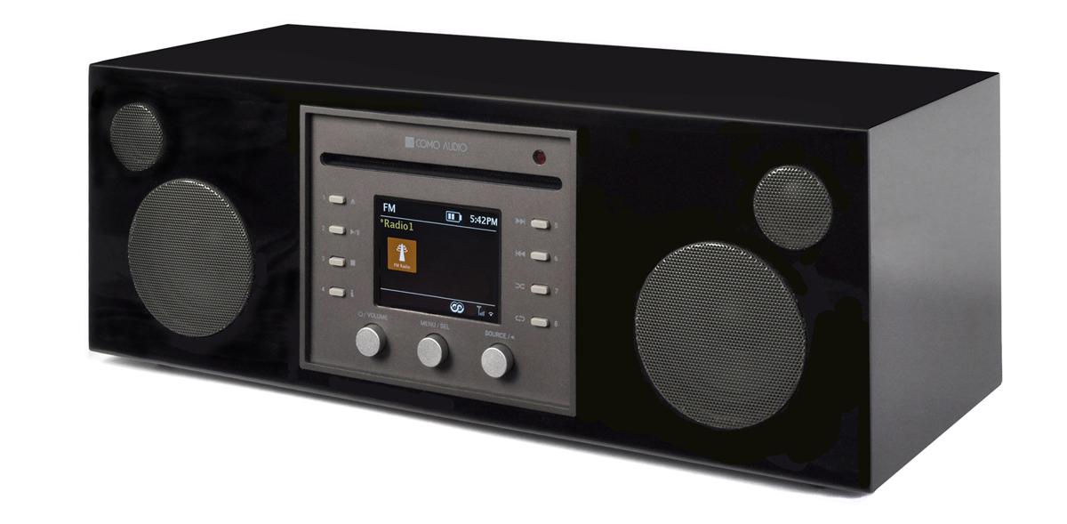 Como Audio Musica CD-Player, DAB+ mit Bluetooth, WiFi, Spotify und FB Hochglanz schwarz
