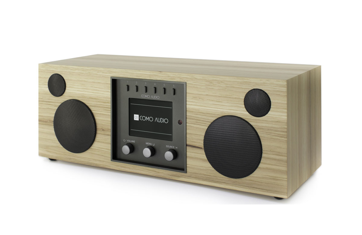 Como Audio Duetto DAB+ Radio with Bluetooth, WiFi, Spotify and Remote hickory