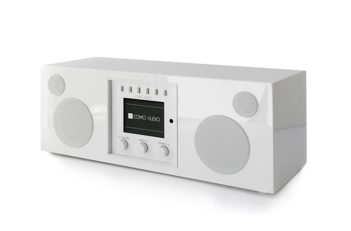 Como Audio Duetto DAB+ Radio mit Bluetooth, WiFi, Spotify und FB, hochglanz weiss (geprüfte Retoure)