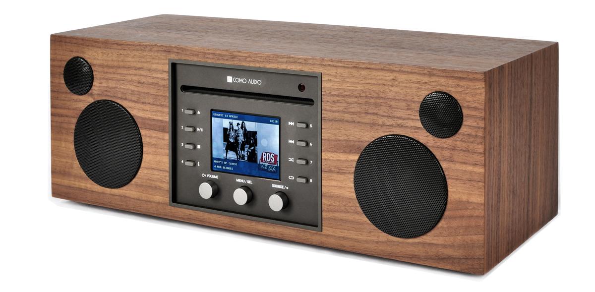 Como Audio Musica CD-Player, DAB+ mit Bluetooth, WiFi, Spotify und FB Walnuss