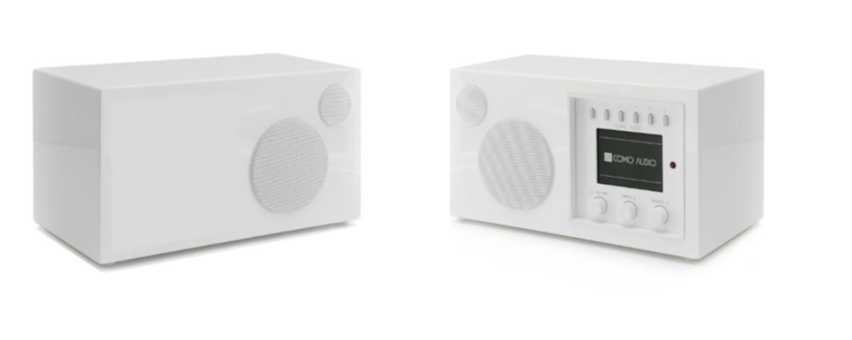 Como Audio Set: Solo DAB+ Radio und Como Audio Ambiente Box hochglanz weiss