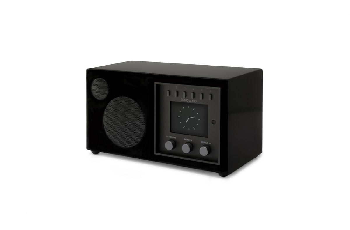 Como Audio Solo DAB+ Radio mit Bluetooth, WiFi, Spotify und FB Hochglanz schwarz