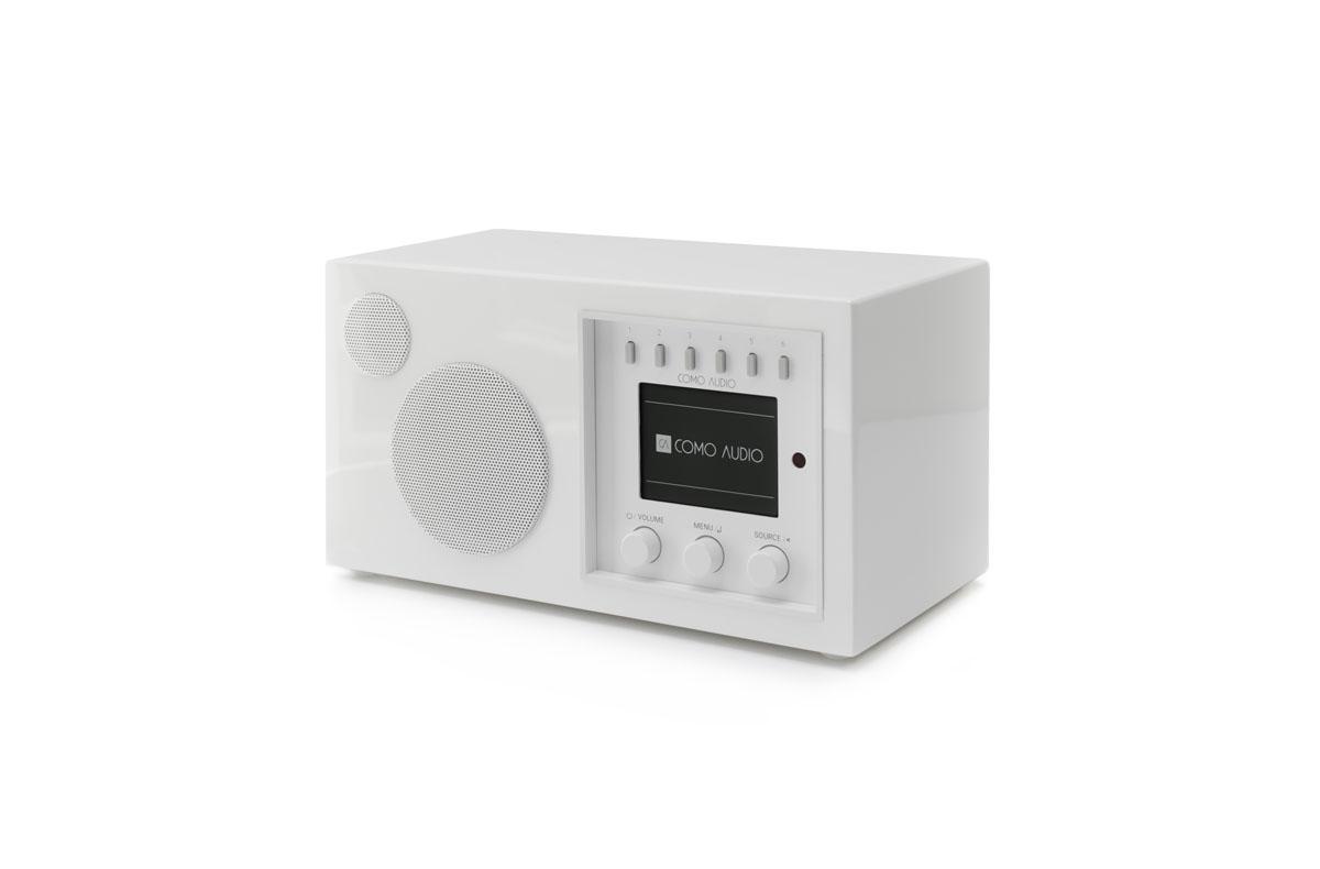 Como Audio Solo DAB+ Radio mit Bluetooth, WiFi, Spotify und FB Hochglanz weiss