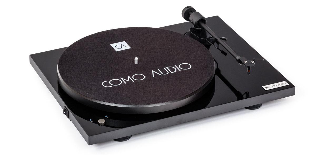 Como Audio Turntable BT mit Ortofon OMB10 Tonabnehmer hochglanz schwarz