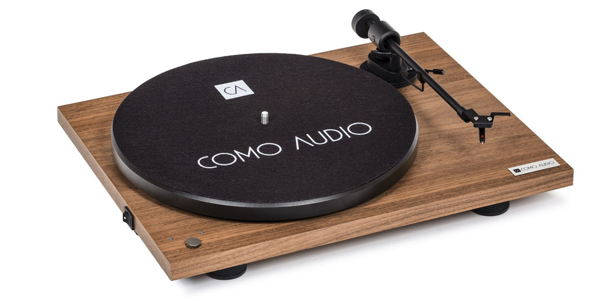 Como Audio Turntable BT mit Ortofon OMB10 Tonabnehmer Walnuss
