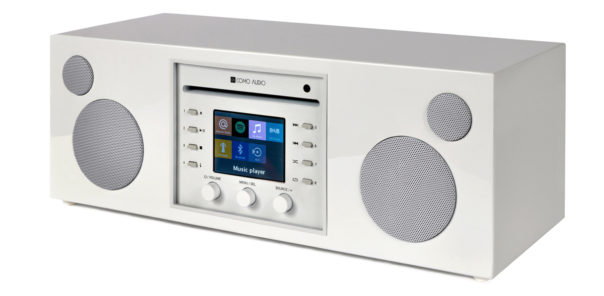 Como Audio Musica CD-Player, DAB+, with Bluetooth, WiFi, Spotify and Remote Highgloss white