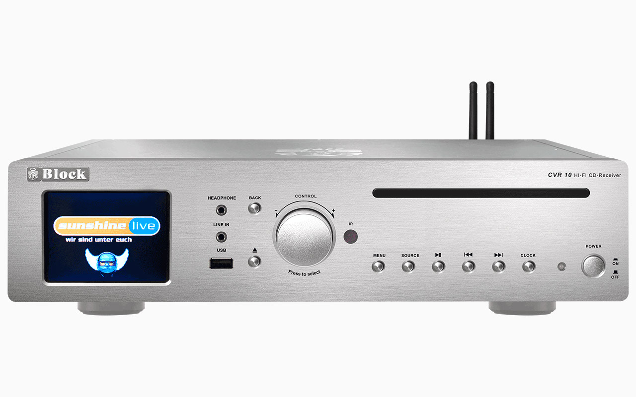 Block CVR-10 CD-Internet-Receiver/Streamer mit Bluetooth und W-LAN silber