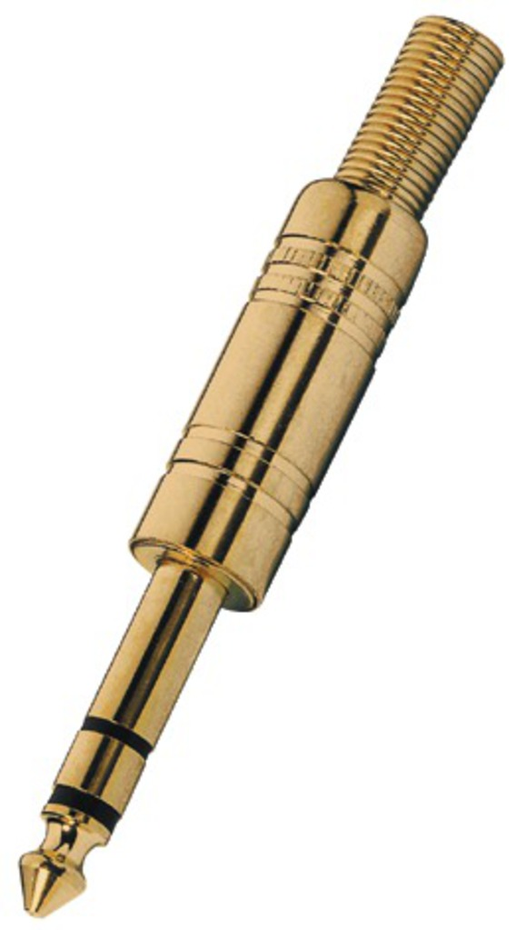 Monacor Klinkenstecker 6.3 MM Stereo T-213PMG, Gold