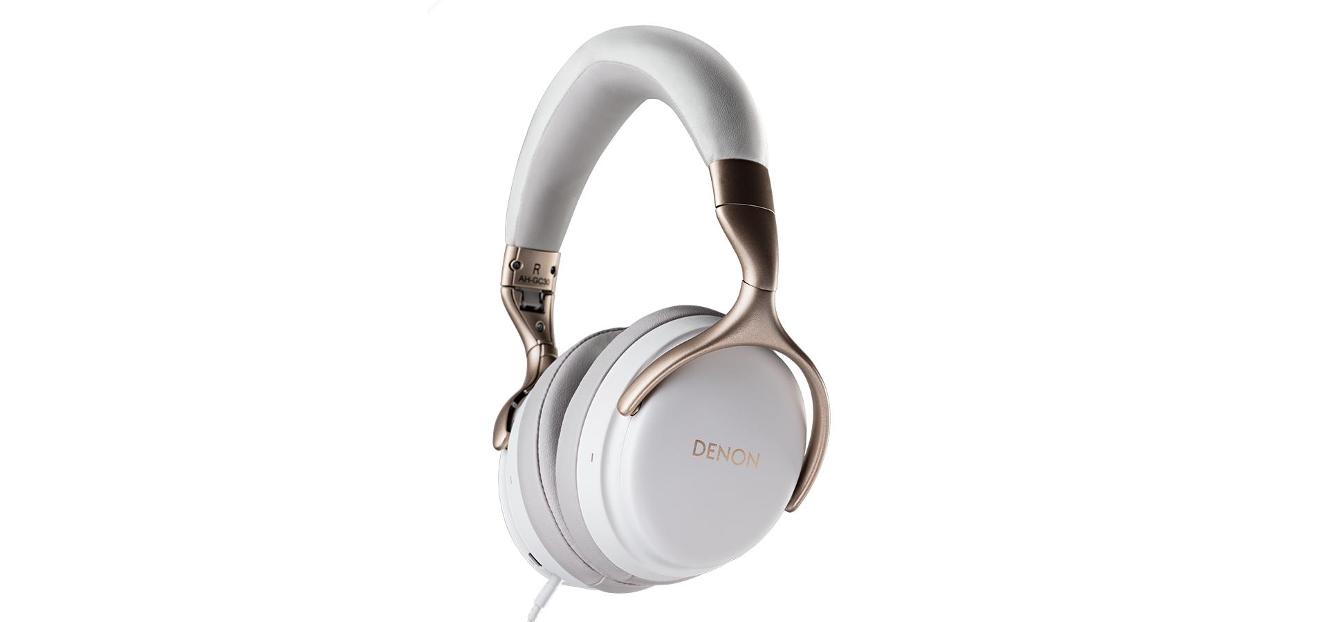 Denon AH-GC30 Over Ear-Kopfhörer Bluetooth weiss