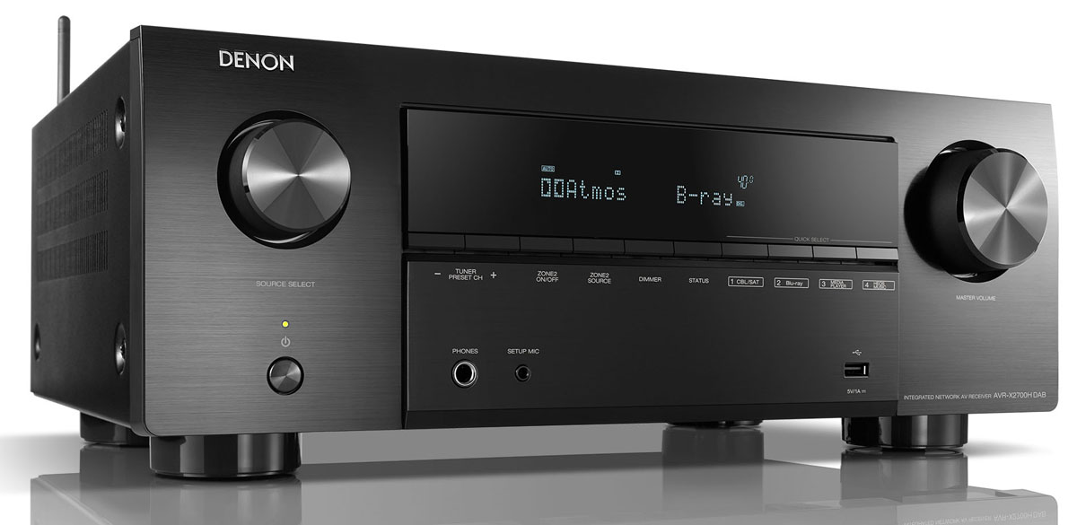 Denon AVR-X2700H 7.2 Chanell 8K AV-Receiver with Heos build in, black
