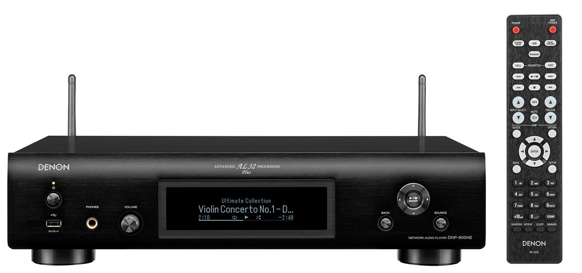 Denon DNP-800 NE Netzwerk-Player mit WLAN und Bluetooth, schwarz (geprüfte Retoure)