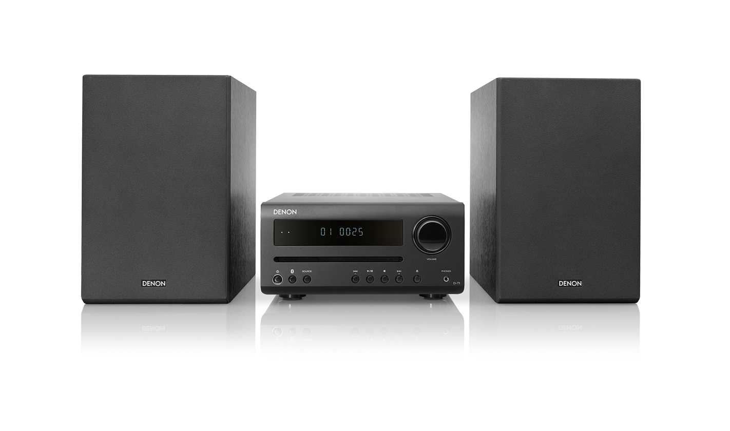 Denon D-T1 Hi-Fi-Mini-System with CD and Bluetooth black