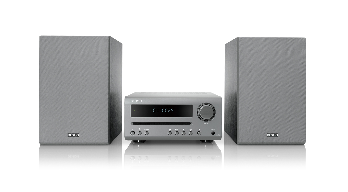 Denon D-T1 Hi-Fi-Mini-System with CD and Bluetooth grey