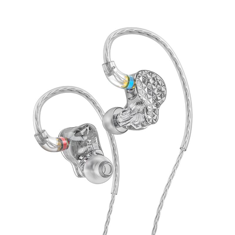 Fiio FA9 In-Ear 6-way High-End Headphones silver (clear)
