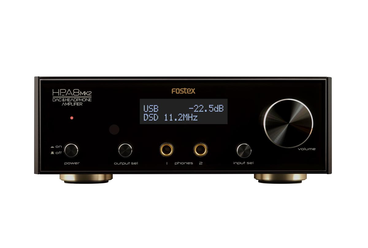 Fostex HP-A8C MKII D/A-Converter with Headphone Amplifier, Black