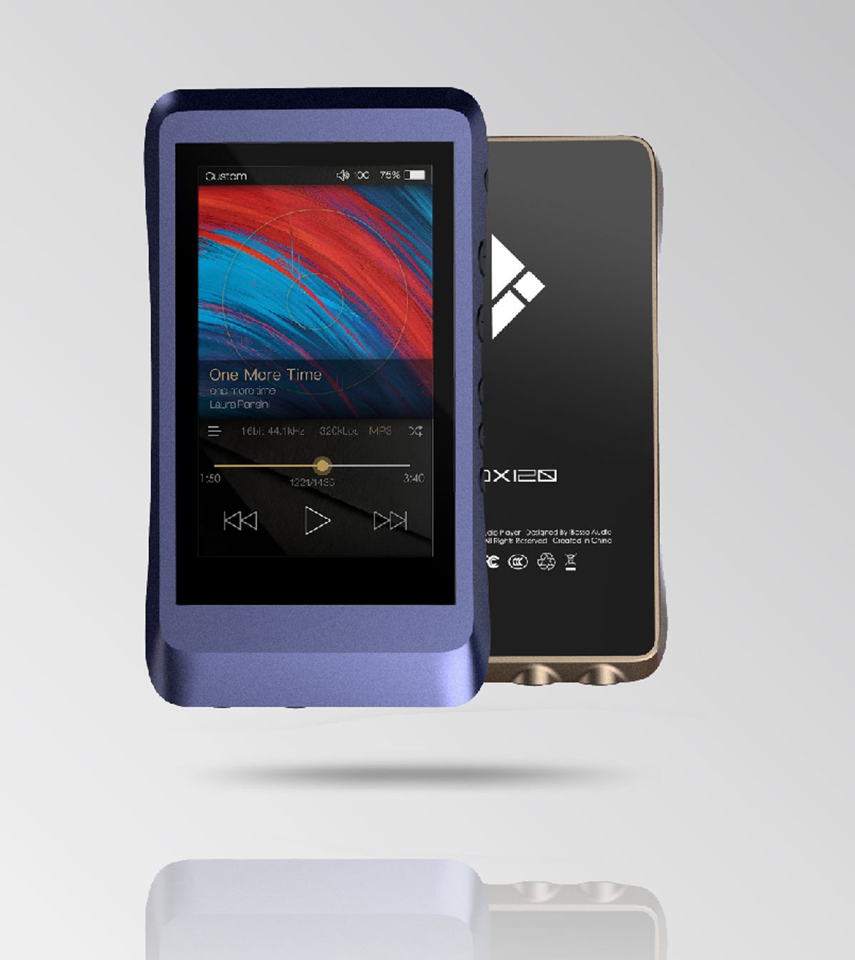 iBasso DX 120 High Performance Digital Audio Player and USB-DAC, brown (checked return)