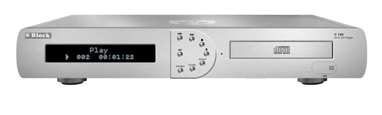 Block C-100 MKII CD-Player silber
