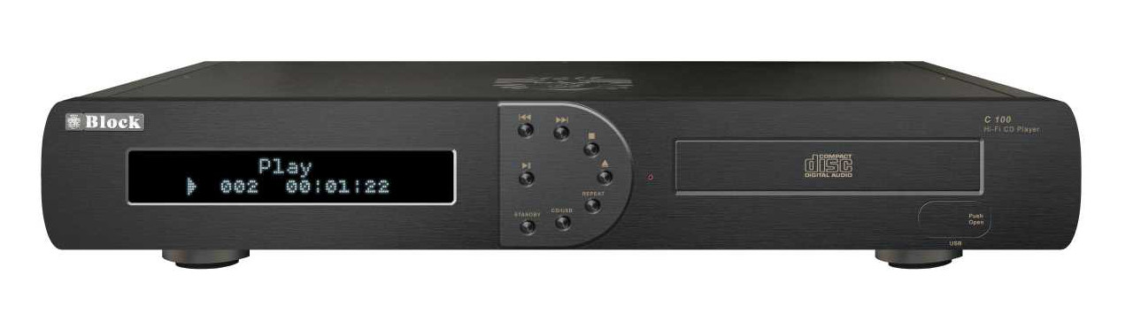 Block C-100 MKII CD-Player schwarz