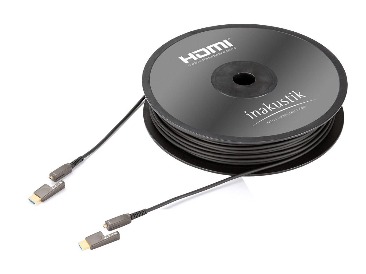 Inakustik Profi HDMI Micro 2.0 LWL Cable