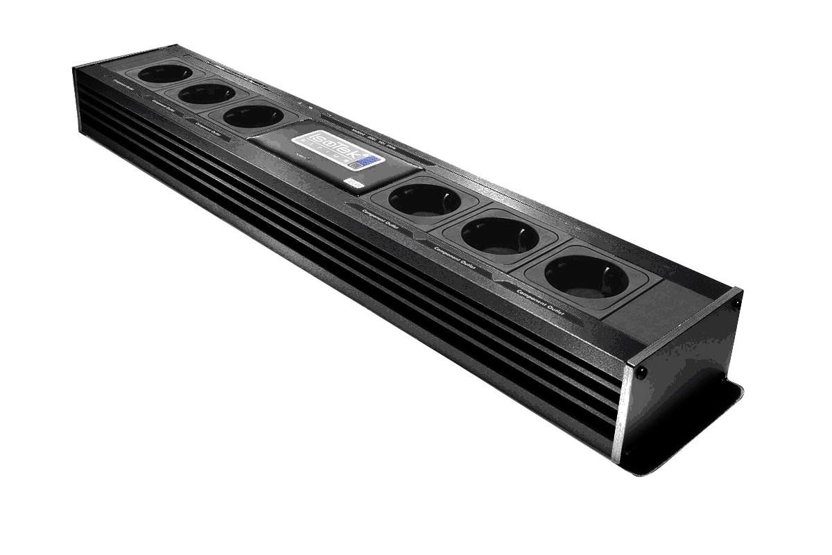 Isotek EVO3 Sirius Netzleiste 6-Fach inkl. EVO3 Premier Netzkabel C13 schwarz