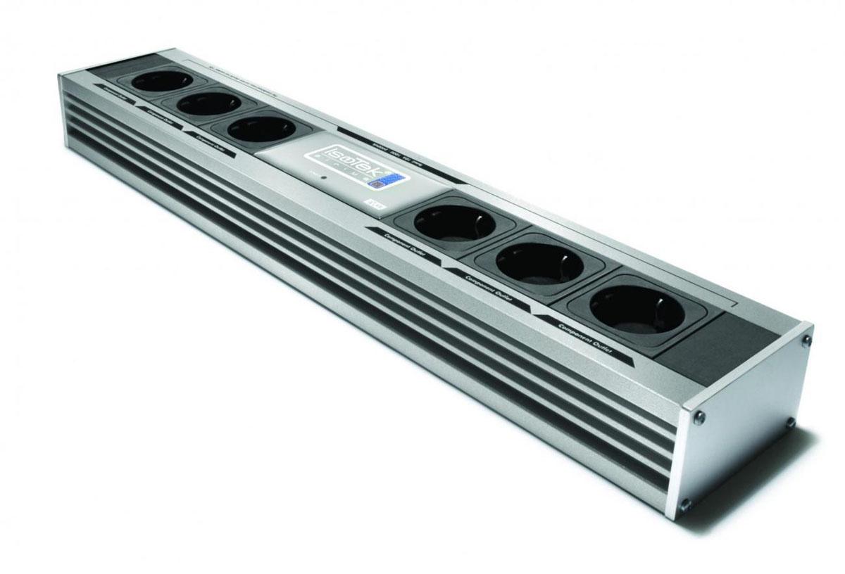 Isotek EVO3 Sirius Netzleiste 6-Fach inkl. EVO3 Premier Netzkabel C13 silber