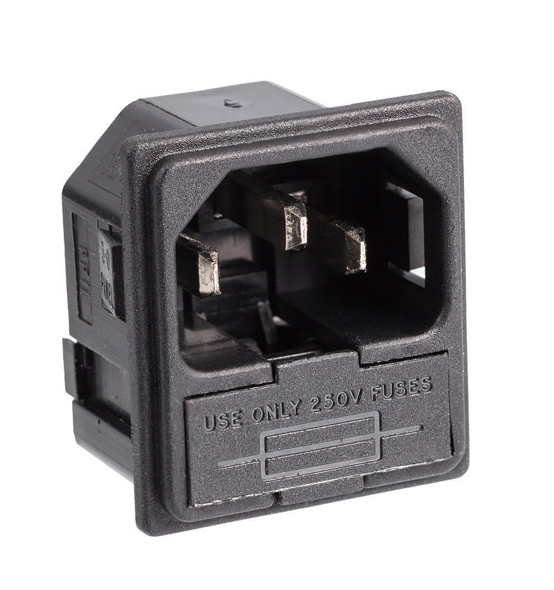 Supra MCH-10 mains jack male with fuse