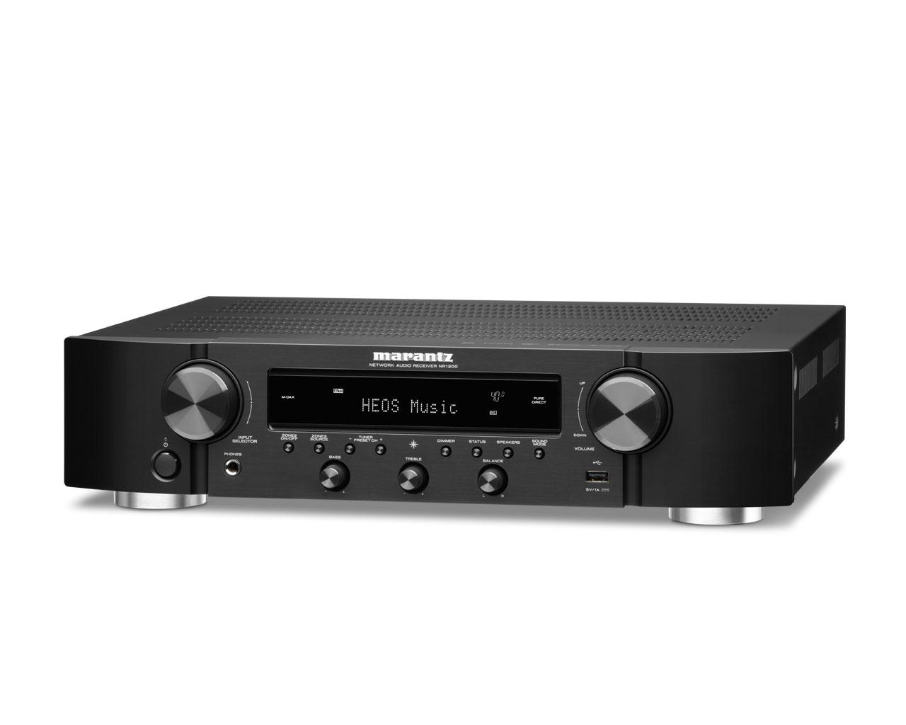 Marantz NR 1200 AV-Receiver kompakter Stereo-Netzwerk-Receiver mit HEOS schwarz