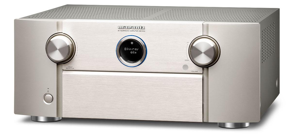 Marantz SR 7015 AV-Receiver 11.2 Kanal Full 8K Ultra HD mit Heos, AirPlay2, Alexa silber/gold